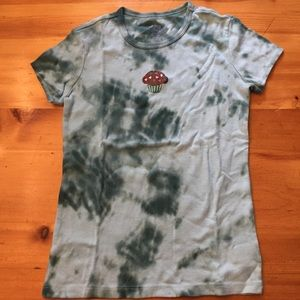 Hand tie-dyed t-shirt with cupcake